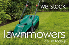 We stock lawnmowers