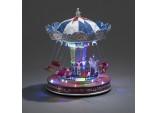 Christmas Decoration 29cms LED Xmas Musical Rotating Fairground Swing Carousel