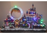 Christmas Decoration Big LED Winter Wonderland Moving Musical Fairground with Rides