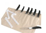 Cream Knife roll / wallet  by Rushbrookes