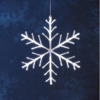 Christmas Decoration -40cm TWINKLING Snowflake 24 White LEDs