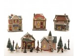 Christmas Decoration  Battery LED Village for Inside Use Assorted 5 Lights White Coloured Diodes