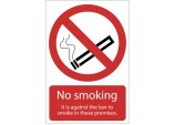 'Smoking Against The Law' Prohibition Sign