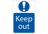 'Keep Out' Mandatory Sign
