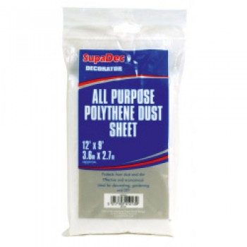 All Purpose Polythene Dust Sheets - 12' x 12'