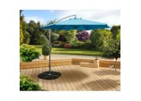 3m Over Hanging Parasol - Blue