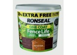 One Coat Fence Life 4L + 25% Free - Harvest Gold