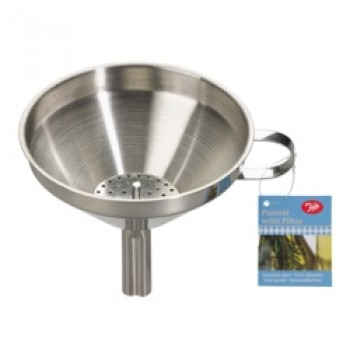 13cm Stainless Steel Funnel with Removable Filter