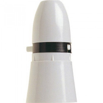 1/2 Switched Lamp Holder White, T1 Long Skirt to BSEN/IEC61184 - Pre-Packed