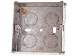 45mm 1 Gang Metal Box to BS4664 - Pre-Packed