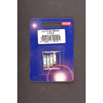 1 Amp Fuse to BS646 - Bubble Packed (4)