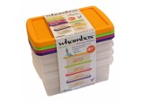 Boxes And Lids 3.5L - 4 Assorted Colours