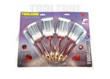 Paint Brush Set -Nylon Bristle -10 Piece by Toolzone