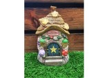 14.5cms Fairy Folklore Solar Thatched Roof with Stars Fairy Cottage House Solar light Resin Garden Ornament
