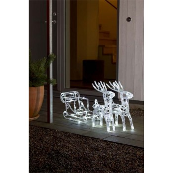 Acrylic LED Reindeer and Sleigh