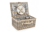 4 Person Wicker Hand Crafted Picnic Hamper