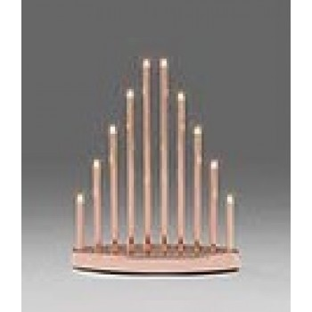 10 Light Copper Lacquered Metal Candlestick