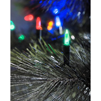 Christmas Light Set with 120 LEDs Green Cable - Multi colour