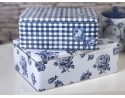 Vintage Indigo Set Of 2 Rectangular Cake Tins