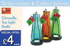 Citronella Tea Light Bottle – Now Only £4.00