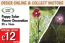 Poppy Solar Flower – Now Only £12.00