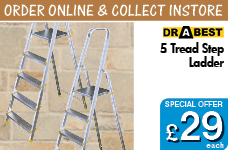 5 Tread Step Ladder – Now Only £29.00