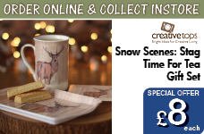 Snow Scenes Stag Time For Tea Gift Set – Now Only £8.00