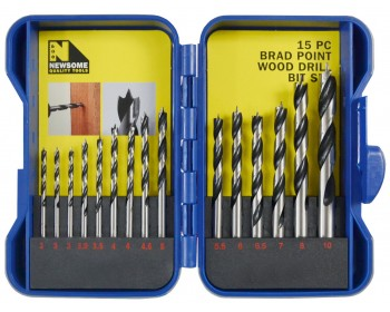 15pc Brad Point Wood Drill Set (3mm-10mm) – Now Only £7.00