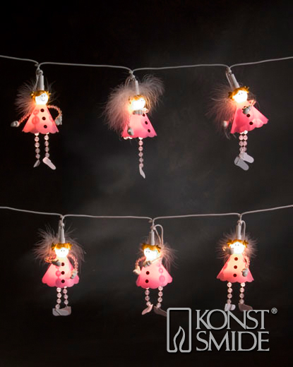 Pink Angel Mini Light Set - 10 Warm White LEDs – Now Only £15.00