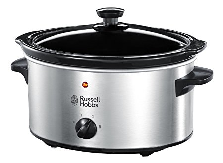 3.5L Brushed Stainless Steel Slow Cooker – Now Only £19.00