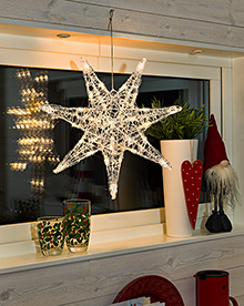 Acrylic Star 7 tips 32 Leds - Warm white – Now Only £15.00