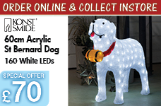 Acrylic St Bernard Dog with 160 white LEDs – Now Only £70.00