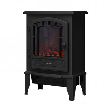 2000w LED Stove Fire - Black Cast Iron Effect – Now Only £49.00