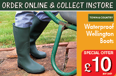 Essentials Full Length Wellington Boots  -  – Now Only £10.00