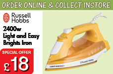 2400w Light and Easy Brights Iron -  – Now Only £18.00