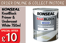 KnotBlock Primer & Undercoat White 750ml – Now Only £10.00