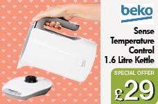 Sense 1.6L Temperature Control Kettle White – Now Only £29.00