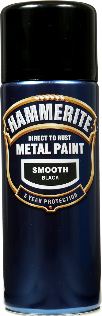 Metal Paint 400ml Aerosol Smooth Black – Now Only £9.00