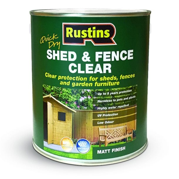 QD Shed and Fence Clear 1L – Now Only £5.00