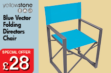 Vector Folding Director Chair - Blue – Now Only £28.00