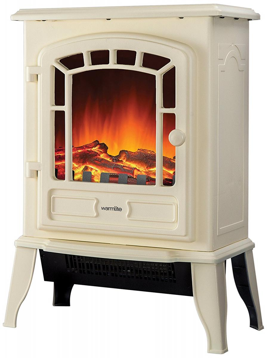 2000w LED Stove Fire - Cream