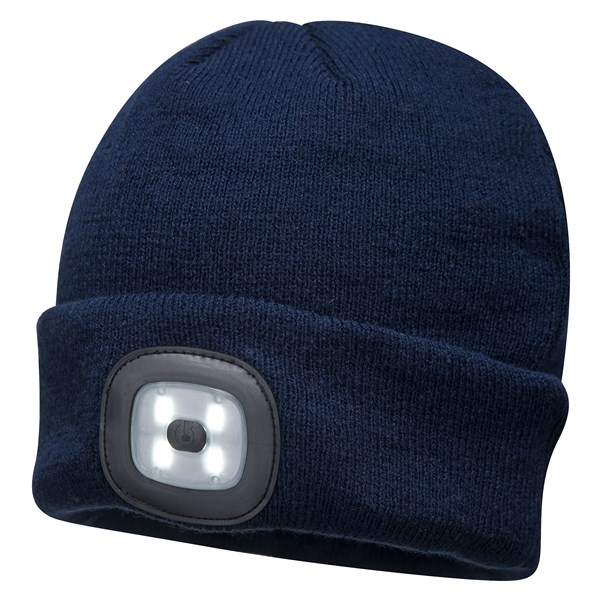 Beanie LED Head Light Hat - NAVY – Now Only £10.00