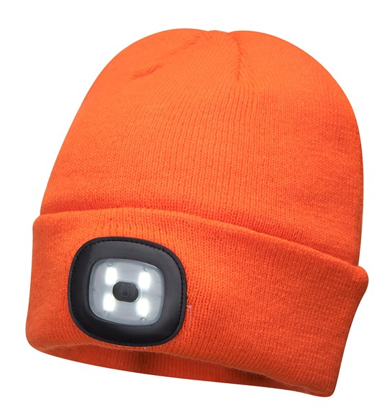 Beanie LED Head Light Hat - ORANGE – Now Only £10.00