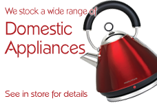 We Stock Domestic Appliances