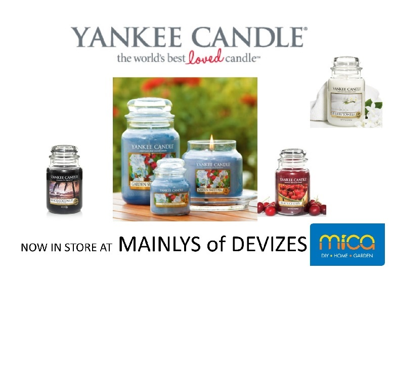 Mainlys of Devizes in now Selling Yankee Candle!