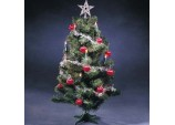 Christmas Festive 58cm Xmas Tree with 10 Pre-decorated fairy lights & decorations