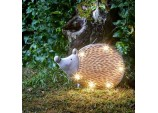 Smart solar Stone Wood Effect Solar Powered in-Lit Hedgehog