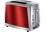 Russell Hobbs 23220 Luna Red Two Slice Toaster, 1500 W
