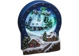 Xmas Decoration LED Lit Up Musical Village Snow Scene (Snowglobe)