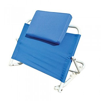 Mobility Aid -Blue Adjustable Folding Bed Back Support Rest by Paroh